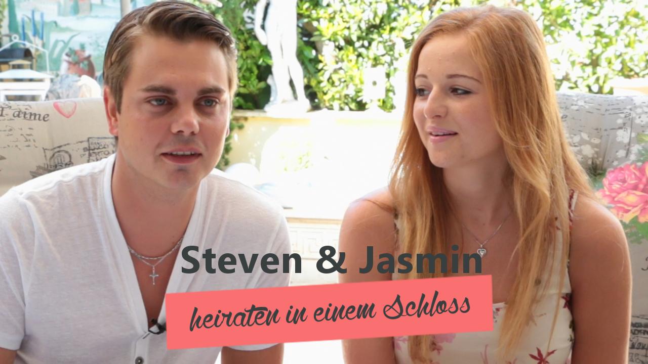 Steven und Jasmin heiraten in einem Schloss
